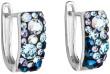 Náušnice s kamínky Swarovski elements 31123.3 Blue style