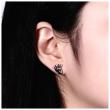 Náušnice do uší pecky s lebkou 003CR