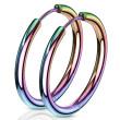Kruhové náušnice chirurgická ocel 3065-RW