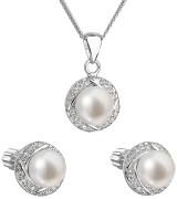 Sada šperků s se zirkony a perlami 29004.1