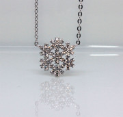 Stříbrný náhrdelník vločka 306525