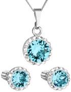 Set stříbrných šperků Swarovski elements 39352.3 Modrá