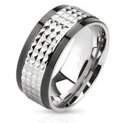 Ocelový prsten Spikes 2859