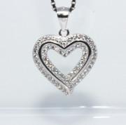 Stříbrný přívěsek srdce 307617