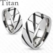 Titanové snubní prsteny Spikes 4380