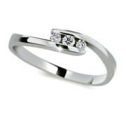 Stříbrný prsten se zirkony 2072