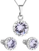Set stříbrných šperků Swarovski elements 39352.3 Fialová
