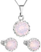 Set stříbrných šperků Swarovski elements 39352.7 Růžový opál