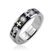 Ocelový prsten Spikes 1623
