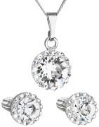 Set stříbrných šperků Swarovski elements 39352.1 Bílá