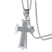 Ocelový náhrdelník kříž JCFPN980