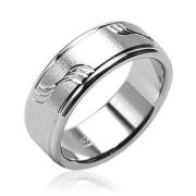 Ocelový prsten Spikes H0801