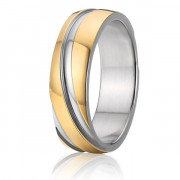 Ocelové snubní prsteny SPPL009