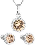 Souprava šperkůl Swarovski elements 39352.3 Oranžová