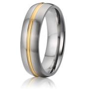 Ocelové snubní prsteny SPPL010