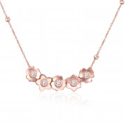 Ocelový náhrdelník s krystaly Swarovski Brosway Ikebana BKE08
