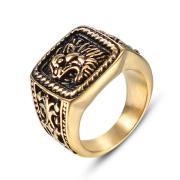 Zlatý pečetní prsten  z chirurgické oceli WJHZ578GD