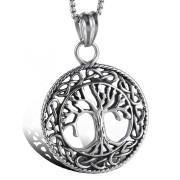 Ocelový náhrdelník strom života WJHC229