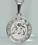 Přívěsek stříbro se zirkony se znamením Blíženci SZZ006