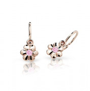 Náušnice pro miminko z růžového zlata C1736R-Růžová