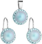 Sada stříbrných šperků se Swarovski elements 39091.3 Sv modrá