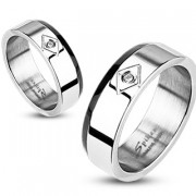 Ocelový prsten Spikes 1007