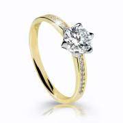 Zásnubní prstýnek zlato se zirkony Z6149Y