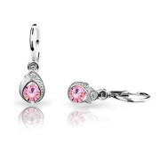 Dětské náušnice Cutie Jewellery C1898B Pink-Bílé zlato 585/000