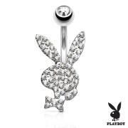 Piercing Playboy do břicha SEPBNC025ST-CZ