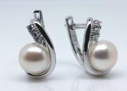 Stříbrné náušnice s perlou 307310