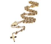 Zlatý ocelový růženec SEJCFNC057