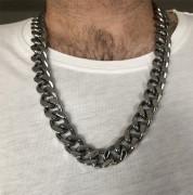 Ocelový řetěz na krk pro muže WJHN2