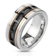Ocelový prsten Spikes 2805