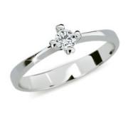 Zásnubní prstýnek stříbro 2089