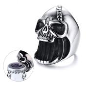 Ocelový prsten pro muže SERC413-otvírák