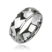 Wolframový prsten Spikes 023