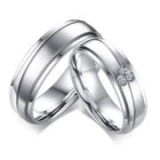 Kombinované snubní prsteny mat/lesk SECR055