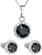 Set stříbrných šperků Swarovski elements 39352.3 Černá