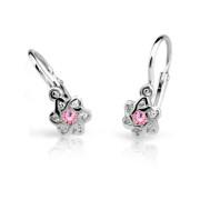 Dětské náušnice Cutie Jewellery C2149B Pink