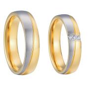 Ocelové snubní prsteny SPPL003