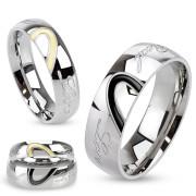 Ocelové snubní prsteny 3030-Real Love