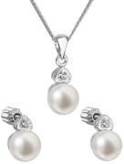 Stříbrná souprava perlových šperků 29001.1