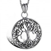 Ocelový náhrdelník strom života WJHC143