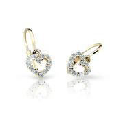 Zlaté dětské náušnice Cutie Jewellery C2157Z-White
