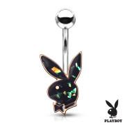 Piercing do břicha Playboy 006RD-BK