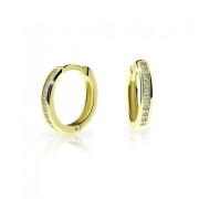 Zlaté náušnice kroužky Cutie Jewellery C3343Z-Bílá