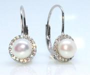 Visací perlové náušnice 306690