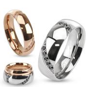 Snubní prsteny z chirurgické oceli 3613