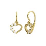 Zlaté náušnice dětské srdíčka 1239-0211Z