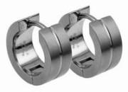 Náušnice z chirurgické oceli kroužky SEE012